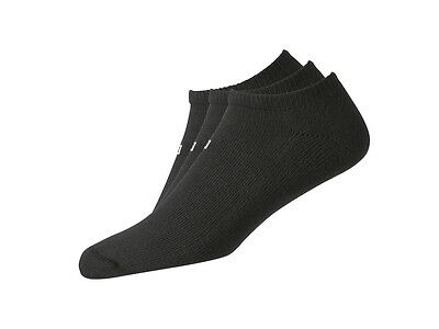 FootJoy ComfortSof Men's Low Cut Black Socks - 3 pack - Black #16393