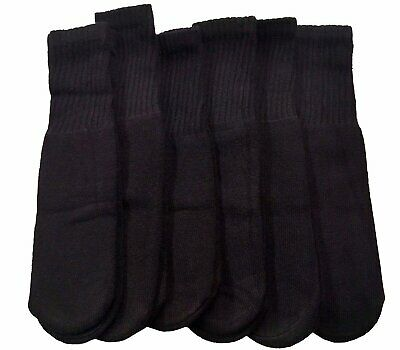 6 Pairs of Excell Children's Solid Cotton Tube Socks, Referee Style, Size 4-6
