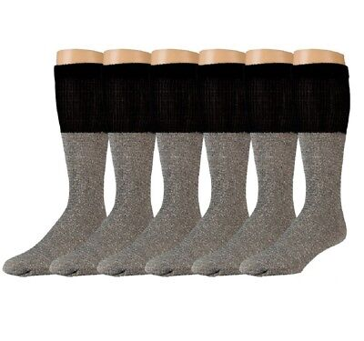 6 Pairs of excell Thermal Socks for Kids, Cotton Blend, Size 4-6