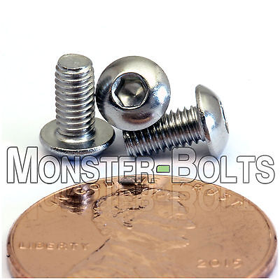 M3 - Stainless Steel BUTTON HEAD Socket Cap Screws A2 / 18-8 ISO 7380 (3mm)