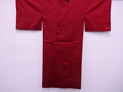 Vintage Japanese Kimono, Antique Rain Coat, Woven Abstract / Craft Material Silk