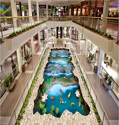3D Stone pond fish 2535 Floor WallPaper Murals Wall Print Decal 5D AJ WALLPAPER
