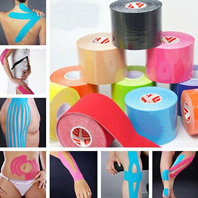 5mX5cm Kinesiology Sports Muscles Care Elastic Physio 1 Roll Therapeutic Tape KY