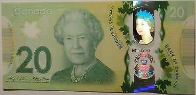 Canada $20 2015 Commemorative Queen's historic reign polymer Banknote UNC