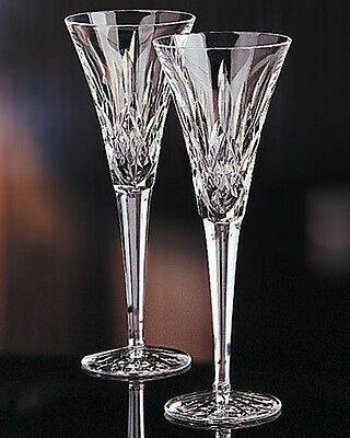 Lot of 4 Waterford Crystal LISMORE Champagne Flutes(s) NIB!