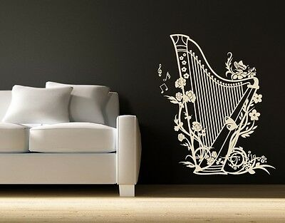 Harp highest quality wall decal sticker