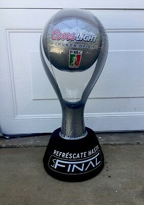 Coors Light Cerveza Official  Inflatable Soccer  Trophy.    ⚽️⚽️