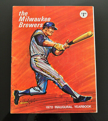 1970 Milwaukee Brewers 1st Yearbook AUTOGRAPHED BY 3 PLAYERS! RARE