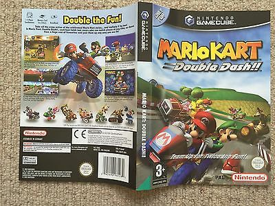 COVER INSERT ONLY Mario Kart Double Dash - GameCube Box Cover Art Only