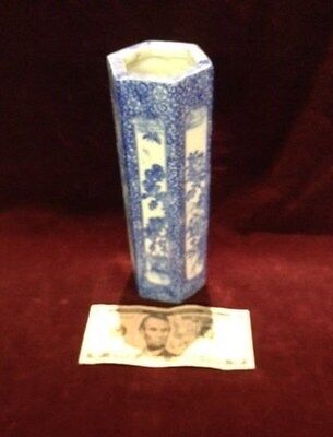 Antique, Asian antiques, Brush Pot/Vase, porcelain, Blue & wht, 1900-1940,China