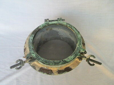 Antique bronze/ brass porthole vintage salvaged porthole nautical antique