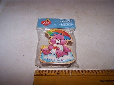 1984 CARE BEARS Wood Figurine NOS Still Sealed American Greetings LOVE A LOT