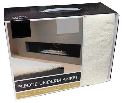 "Fleece Underblanket Mattress Protector Extra Deep 12""(30cm) For Thick Mattress"