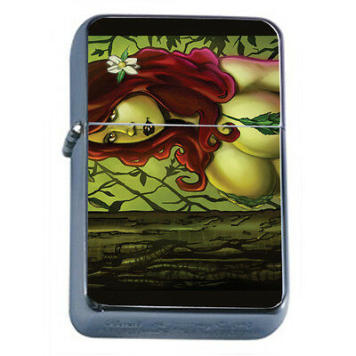 Bad Girl Pin Up D20 Windproof Dual Flame Torch Lighter Refillable
