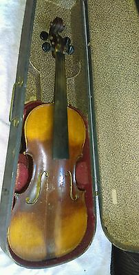 Old 4/4 unmarked Violin with One Piece Back, for Repair