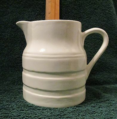 Vintage 5 inch California USA Pottery White Pitcher  # 290  Excellent Condition