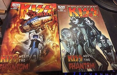 KISS GIRLS #6 Comic Book LOT of 2  Both Covers A & B IDW VF-VF+ Free Shipping!