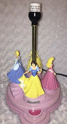 Disney Princess Animated Talking Lamp Light Snow White Cinderella Aurora Belle