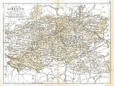 Map of County Limerick. Ireland, dated 1897.