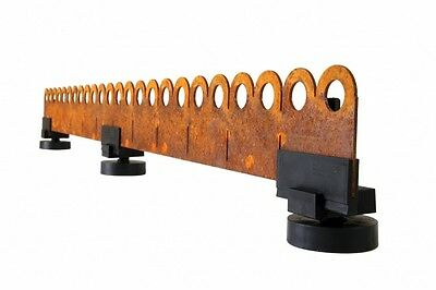 Cottage Styled Metal Garden Edging - Corten Steel - Pre-rusted. Price per metre