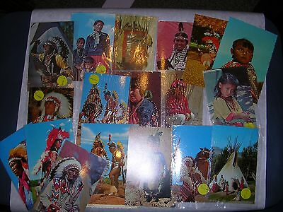 Lot of 34 1960's Native American Indian Vintage Postcards