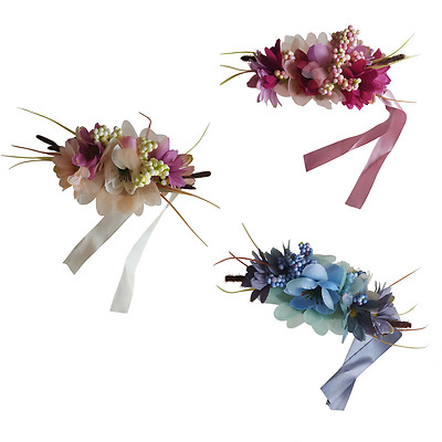 Flower Headpiece Floral Fascinator Wedding Bridal Hair Accessories Prom Party