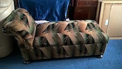 edwardian velour covered day bed