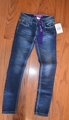 Girls Vigoss Blue Grease Skinny Jeans ~ Sz 7 NWT