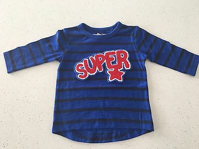 Baby Boys Long Sleeve T-shirt Size 0 NEW With Tags