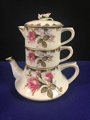 Napco Mini Teapot Stacking Tea Set SD133 Model 1DD196