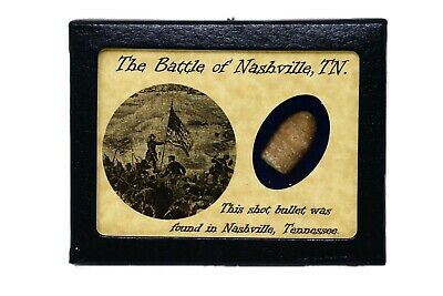Shot Bullet From The Battle of Nashville, TN with Certificate of Authenticity