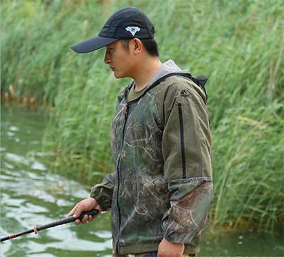 Anti mosquito Bug Jacket Lightweight Mesh Repellent Camping Fishing Clothes