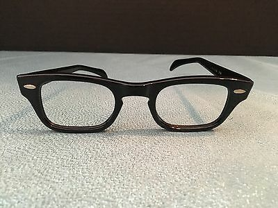 NOS Men's Eyeglass Frames Black 1950s 1960s MCM Buddy Holly