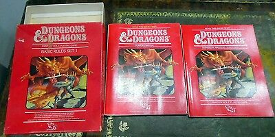TSR 1011 Dungeons & Dragons D&D Basic Rules Set Red Box (Missing Dice & Crayon)