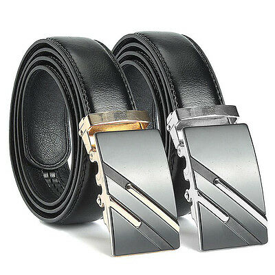 Fashion Men Casual Waistband Business Leather Automatic Buckle Waist Strap Belt