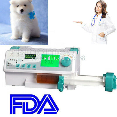 New Veterinary vet CE HD Syringe Pump + Drug library + Visual alarm ICU CCU Sale