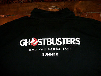 Ghostbusters Movie Cinemark Theatres Staff Employee Usher PROMO Large Polo Shirt