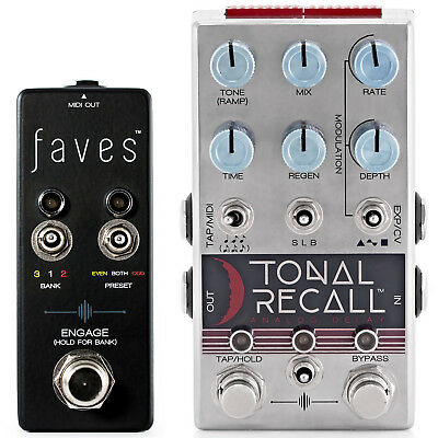 Chase Bliss Audio Tonal Recall Delay Pedal & Faves MIDI Controller