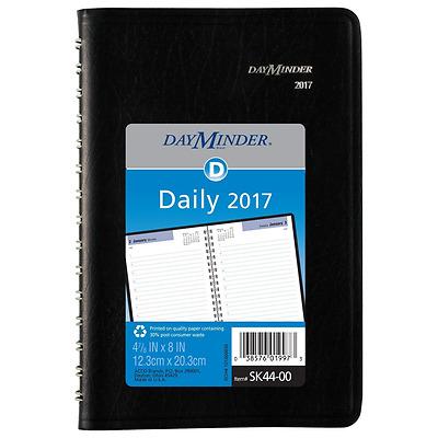 Daily Calendar 2017 Schedule Book Planner Day Month Diary Leather Covers New