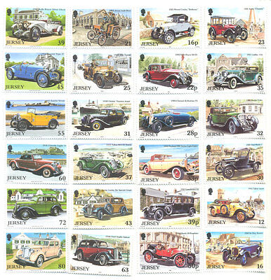 Jersey-Vintage Cars complete collection 4 sets mnh-unmtd