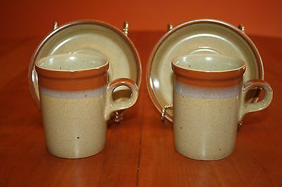 Mikasa Potter's Art Country Cabin Two Cappuccino Cup and Saucer Sets EUC