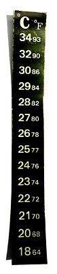 Stick On Thermometer Strip Aquarium Temperature Home Brew Beer  Sticker Tank