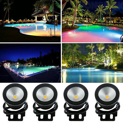 Color Changing Remote Underwater Fountain Flood Pond Party Light IP68 1/2/3/4PCS