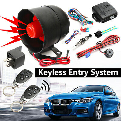 Universal Car Vehicle Burglar Protection System Alarm Security+2 Remote Control