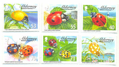 Alderney-Ladybirds - mnh set Insects