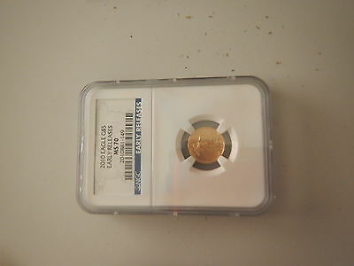 NGC 2010 Eagle $5 Early Releases Gold 1/10 Ounce Coin - MS70