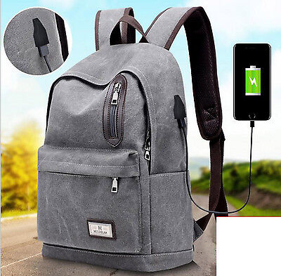 2017 New Men's Canvas Rucksack Shoulder Bag Casual Camping Smart Travel Backpack