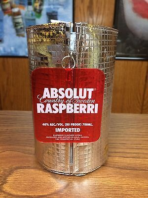 Rare Absolut Vodka 700Ml Raspberri Coolpack 2Nd Skin Bottle Skin / Cover Display