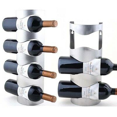 Glass Bottle Metal Wall Mount Wine Rack Iron Glass Storage Organizer Rack Holder