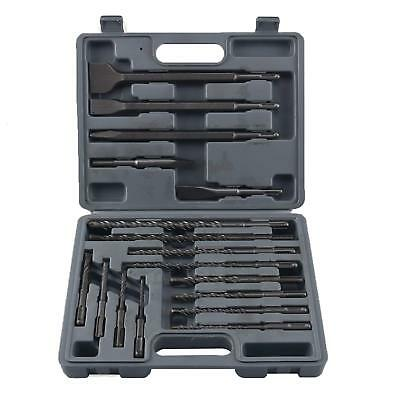 YaeTek 17Pc Drill Bits & Chisel Sds Plus Rotary Tungsten Carbide Hammer Bits Set